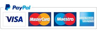 Accettiamo pagamenti con carte di credito, paypal, bonifici